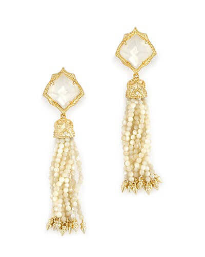 Misha Statement Earrings in Ivory Pearl