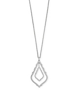 Simon Long Pendant Necklace in Silver