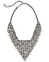 Giada Statement Necklace in Mirror Rock Crystal