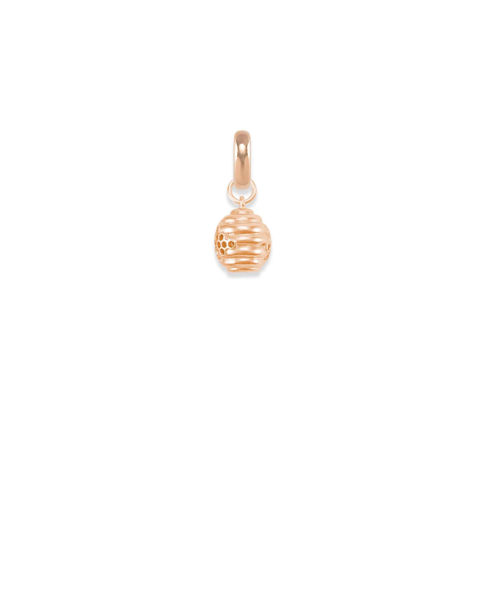 Utah Beehive Charm in Rose Gold