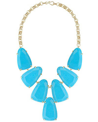 Harlow Statement Necklace in Turquoise