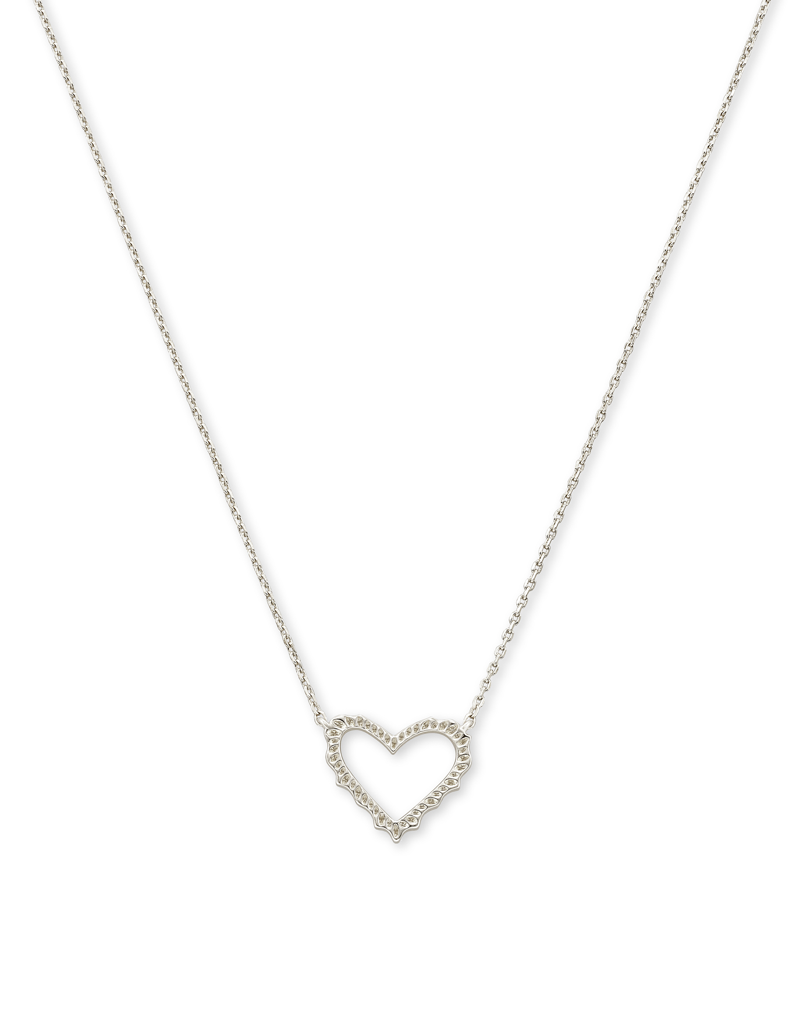 Sophee Heart Small Pendant Necklace in Silver