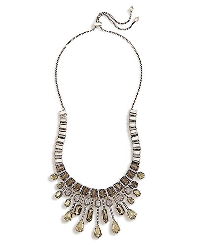 Bette Statement Necklace in Antique Silver