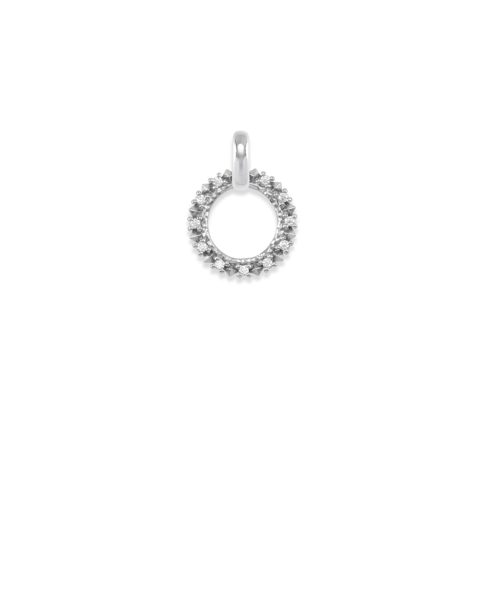 CZ Charm Pendant in Silver