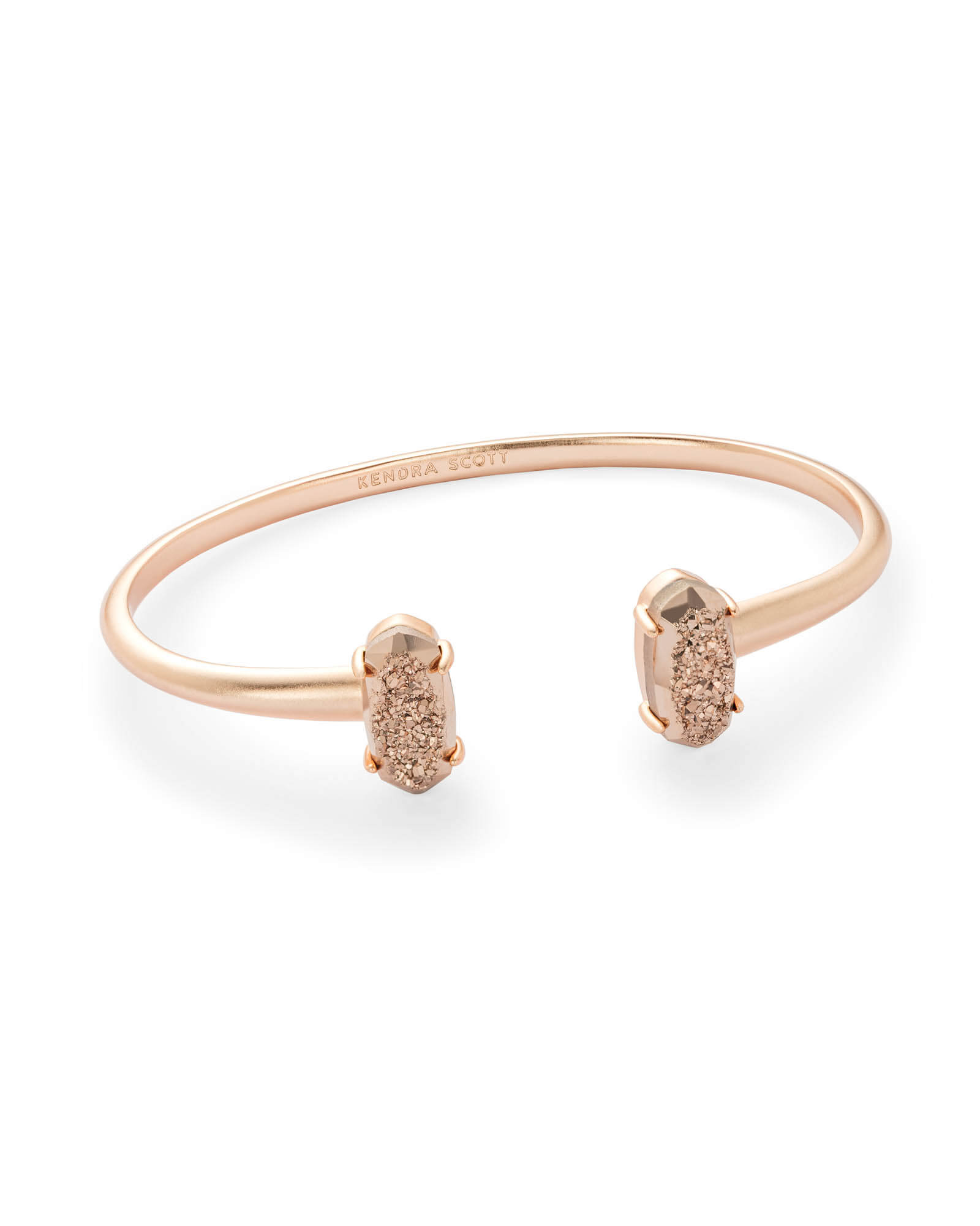 Edie Rose Gold Cuff Bracelet in Rose Gold Drusy
