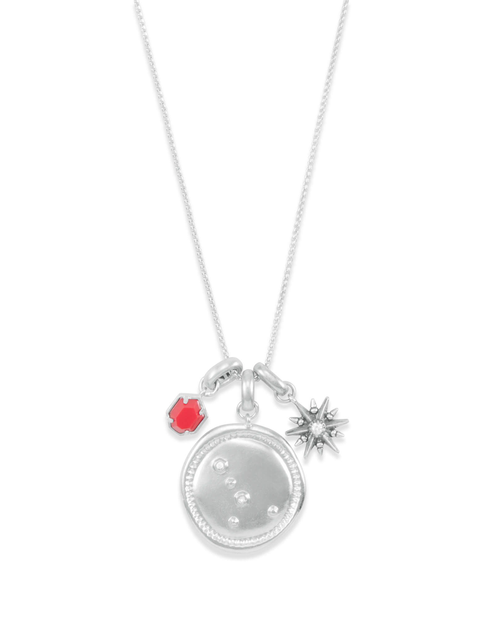 July Cancer Charm Necklace Set in Silver
