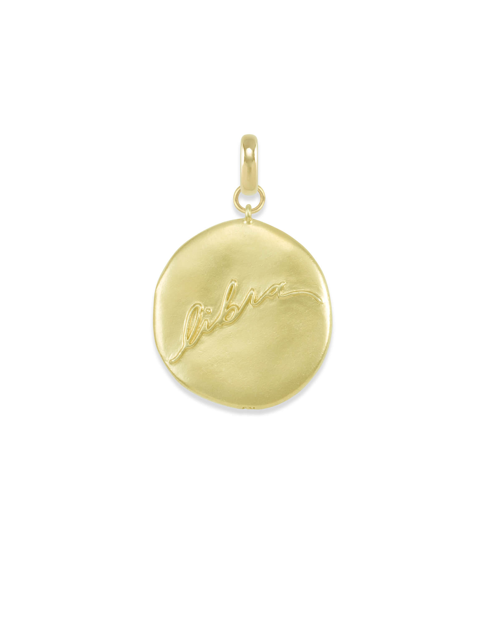 Libra Coin Charm in Gold