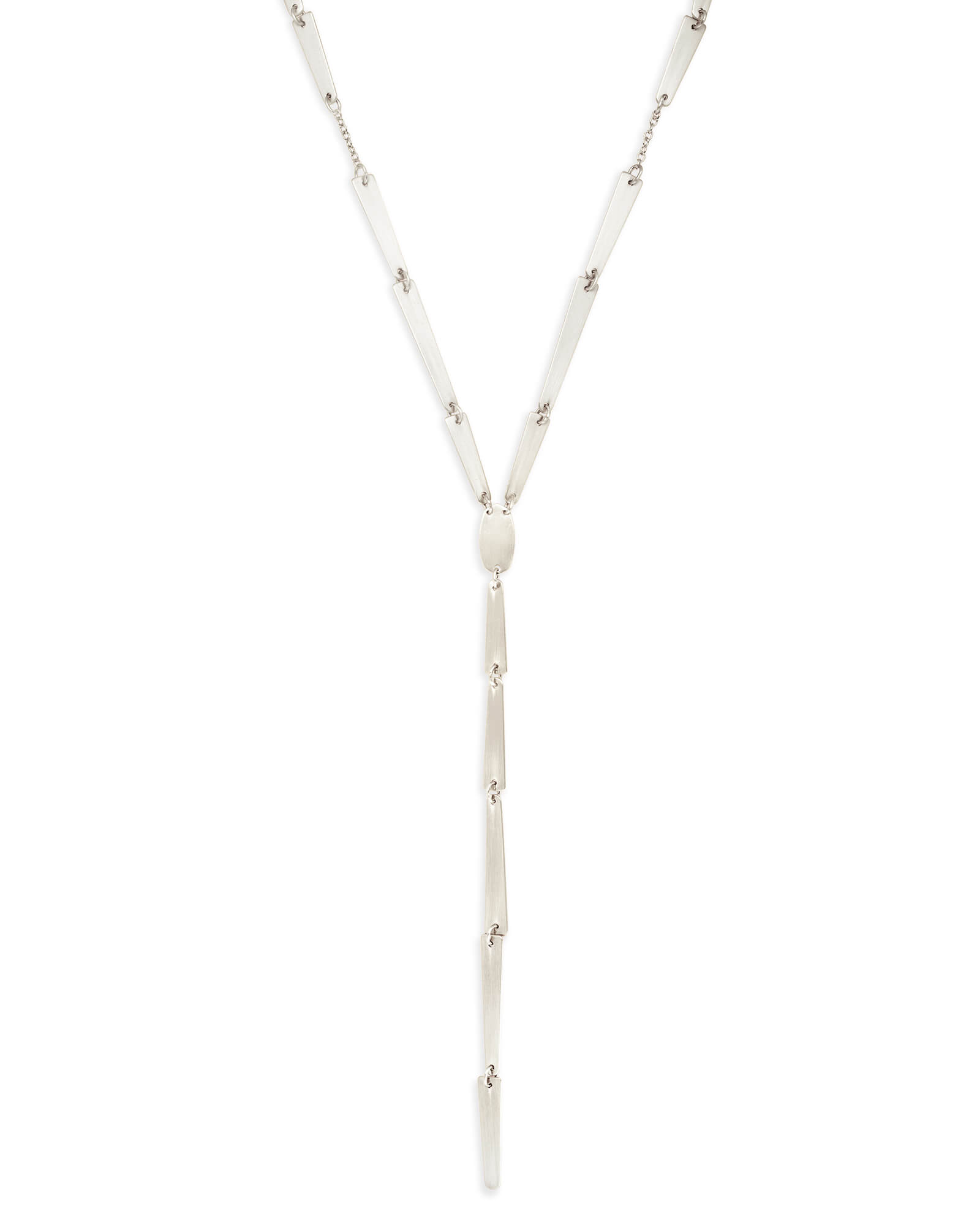 Gail Y Necklace in Silver