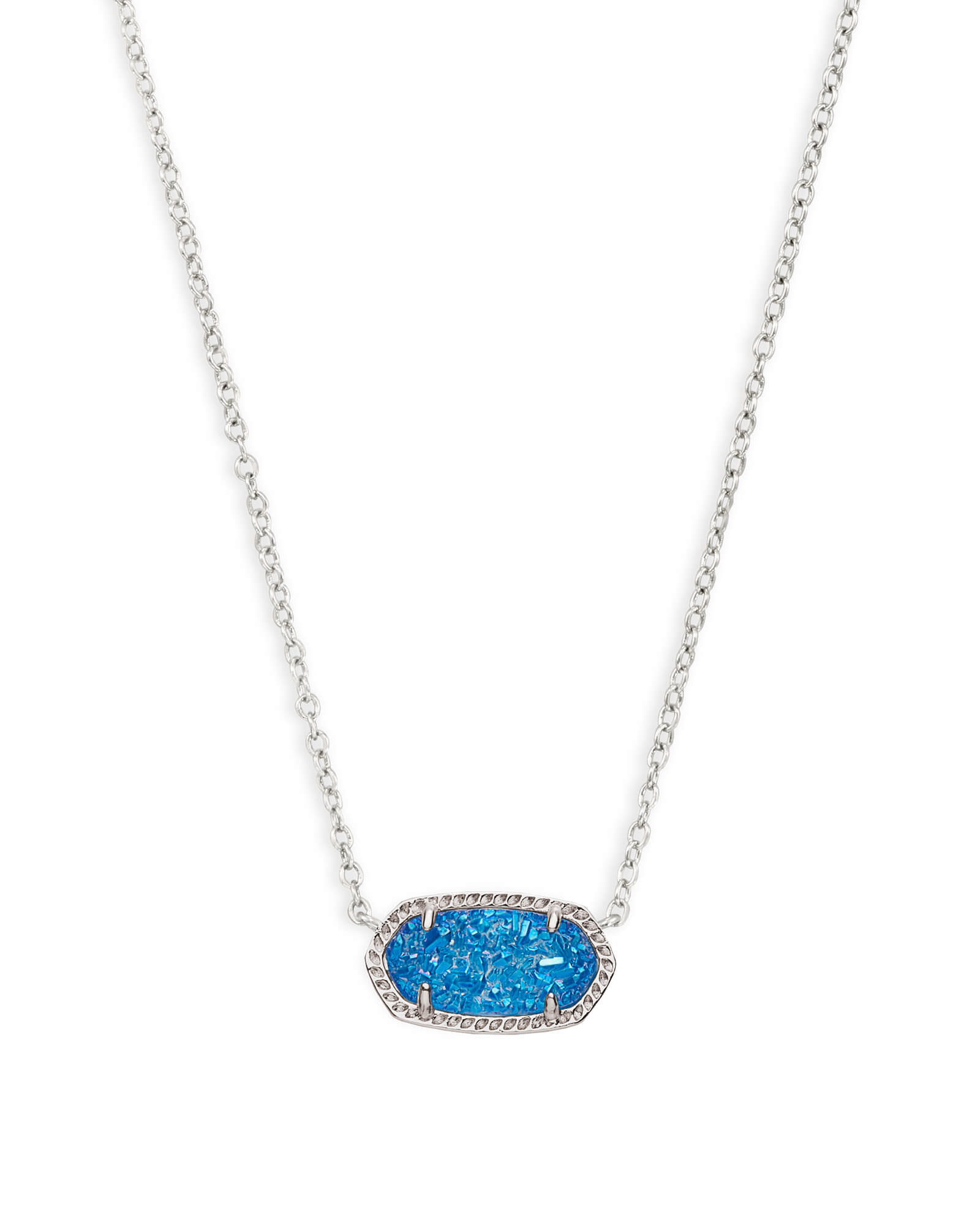 Elisa silver pendant necklace in cobalt drusy kendra scott elisa silver pendant necklace in cobalt drusy aloadofball Images