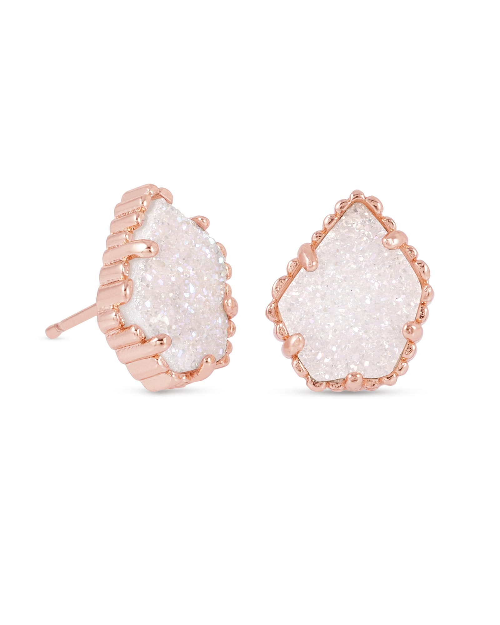 Tessa Rose Gold Stud Earrings in Iridescent Kendra Scott