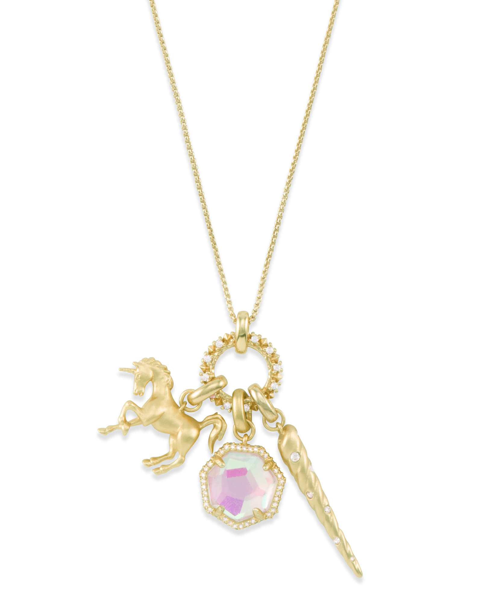 Magical Charm Necklace Set in Gold