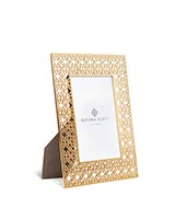 4x6 Filigree Photo Frame in Bright Brass