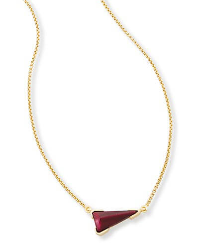 Racquel Pendant Necklace in Bordeaux Tiger's Eye
