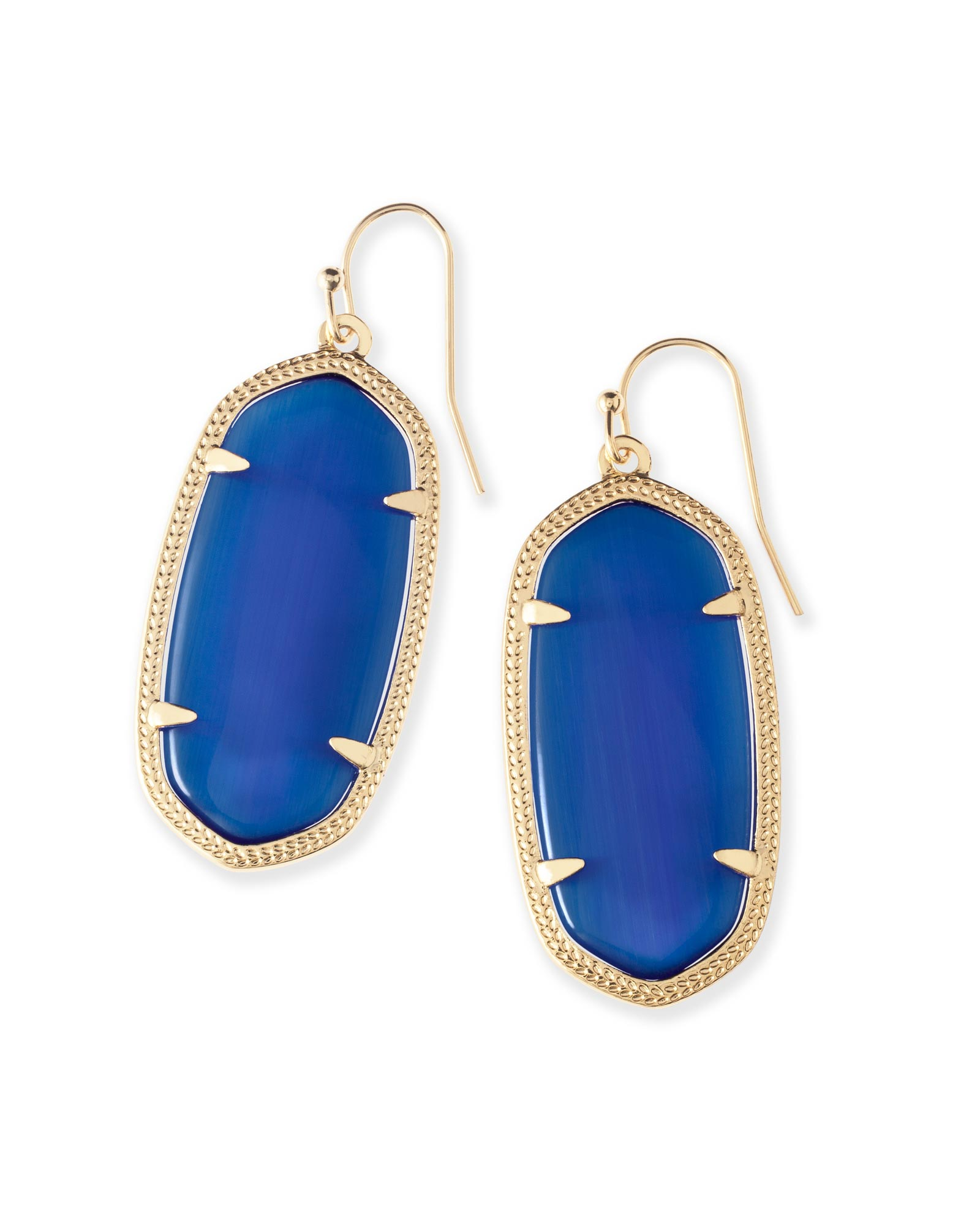 Elle Earrings in Navy Cat's Eye