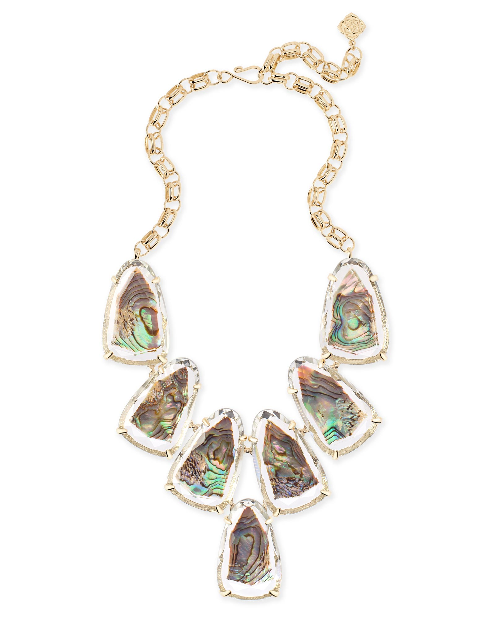 Harlow Statement Necklace in Suspended Abalone Shell