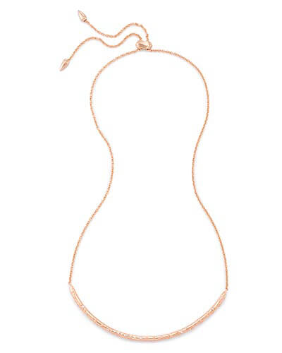 Amber Choker Necklace in Rose Gold