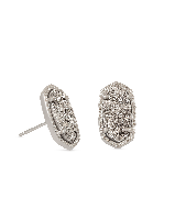 Ellie Stud Earrings in Silver
