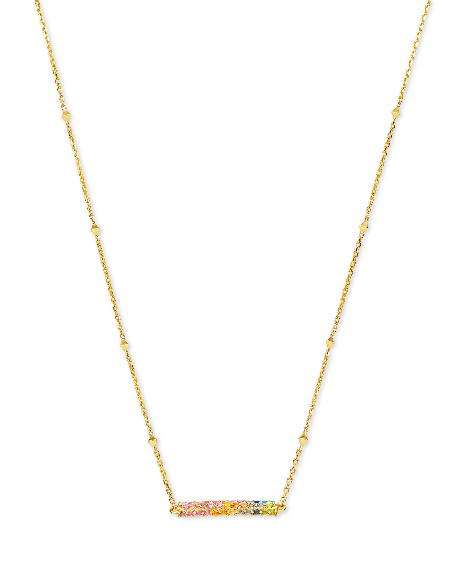 Remington 14k Yellow Gold Pendant Necklace in Multicolor