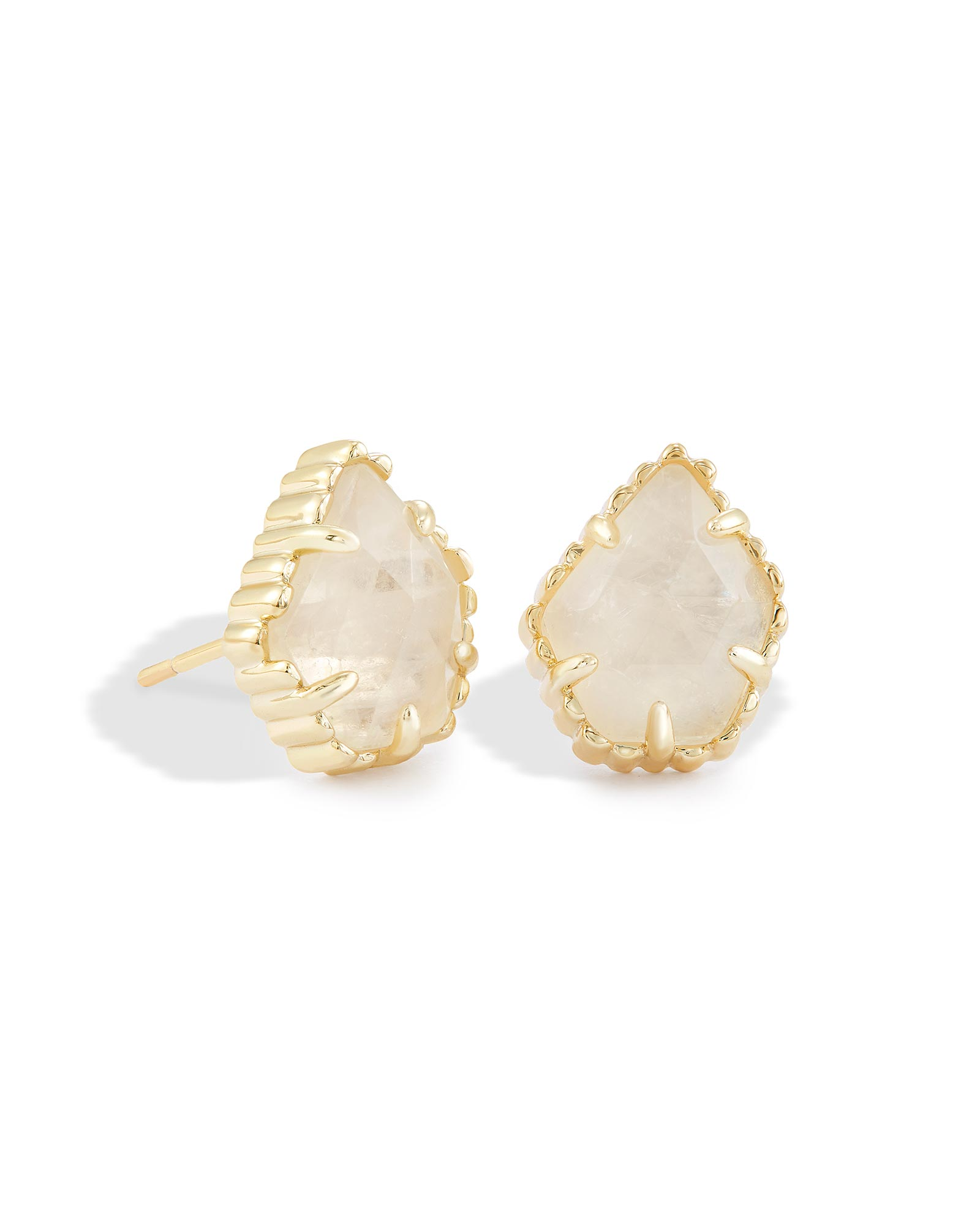 Tessa Stud Earrings in Rock Crystal