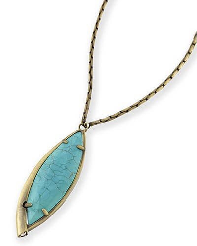 Milla Long Necklace in Variegated Turquoise