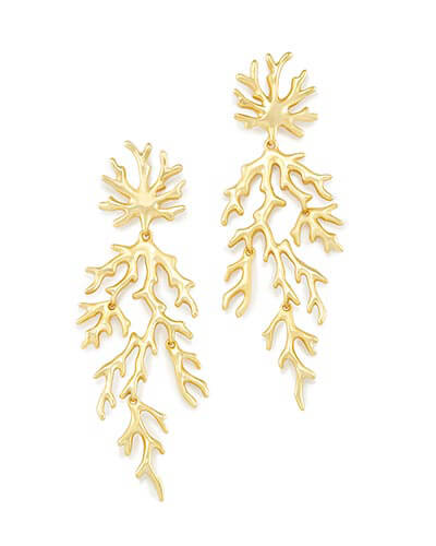 Aviana Statement Earrings in Gold
