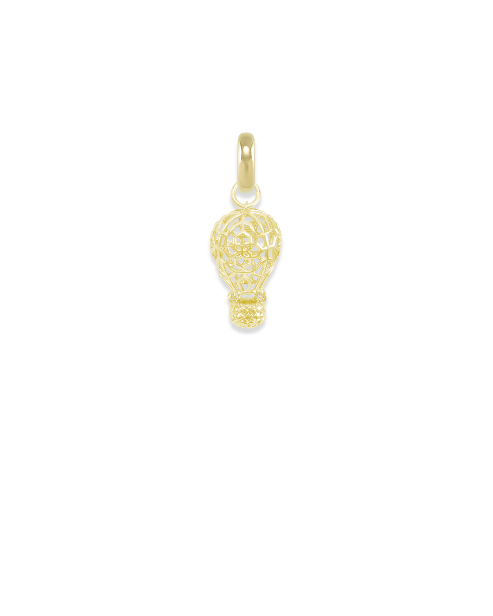 New Mexico Hot Air Balloon Charm in Gold