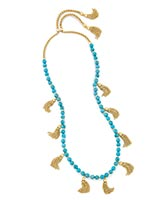 Vanina Long Necklace in Turquoise