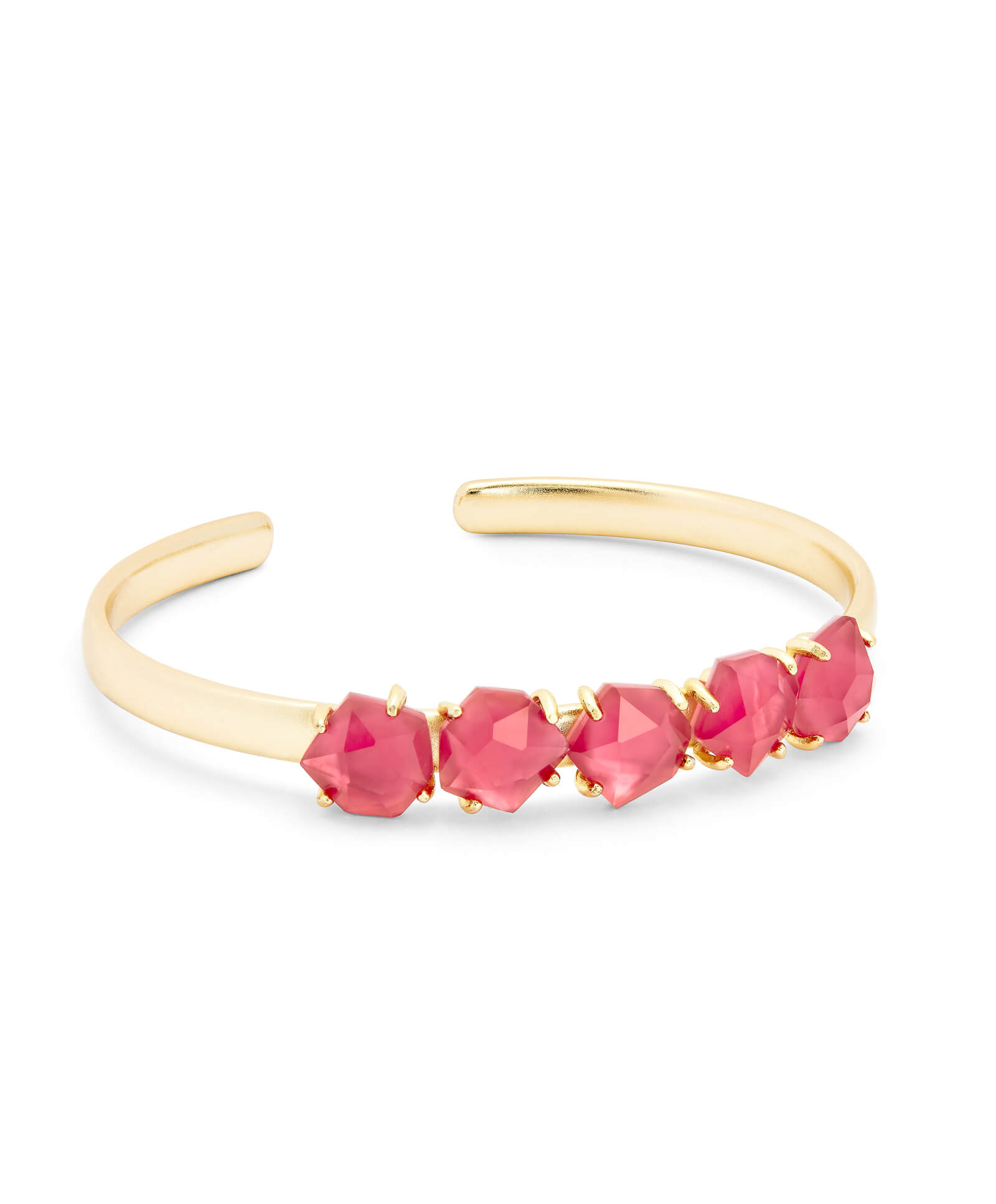 Nash Gold Adjustable Bracelet in Berry Illusion