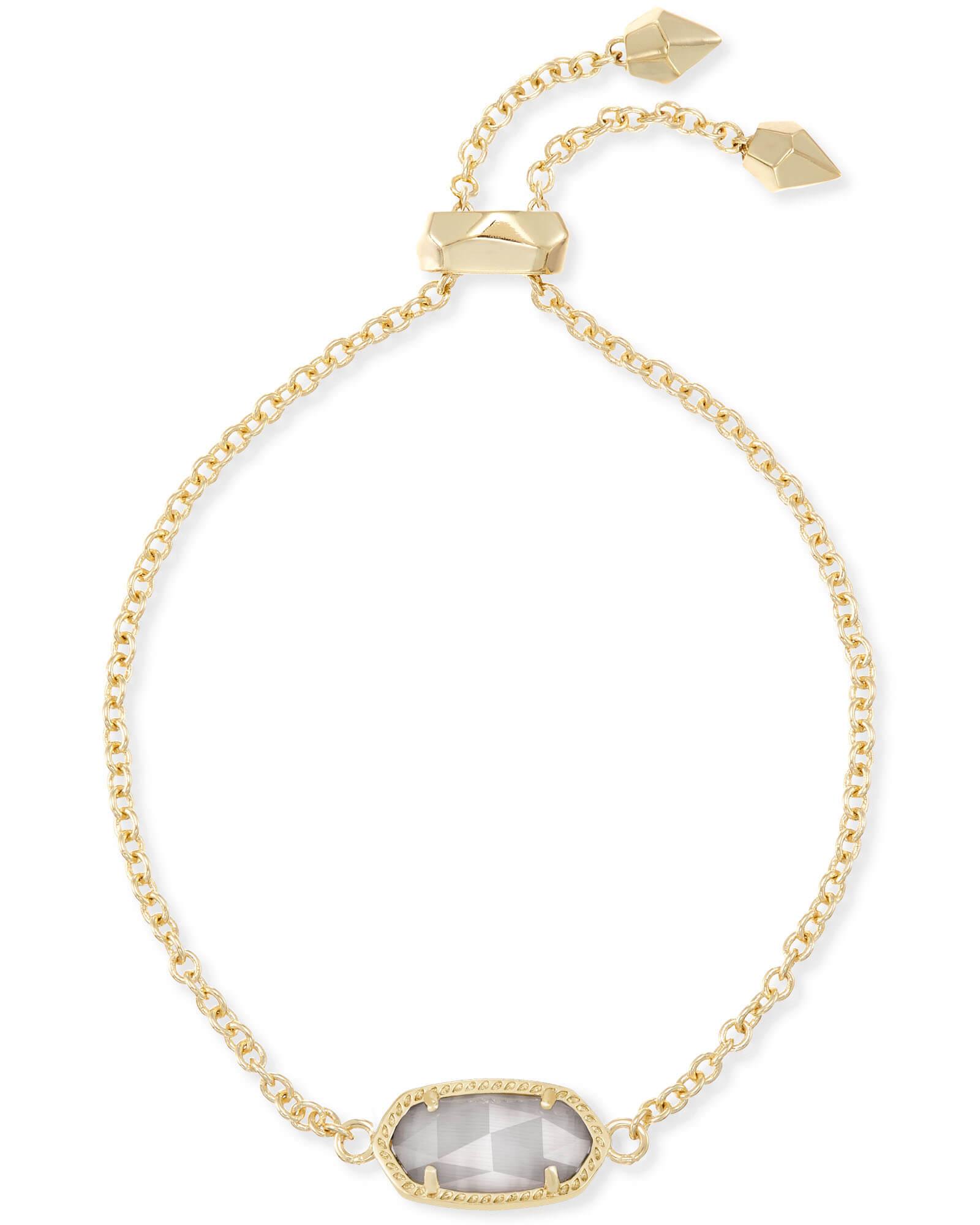 48bea3f5242df Elaina Adjustable Gold Bracelet Gray Slate
