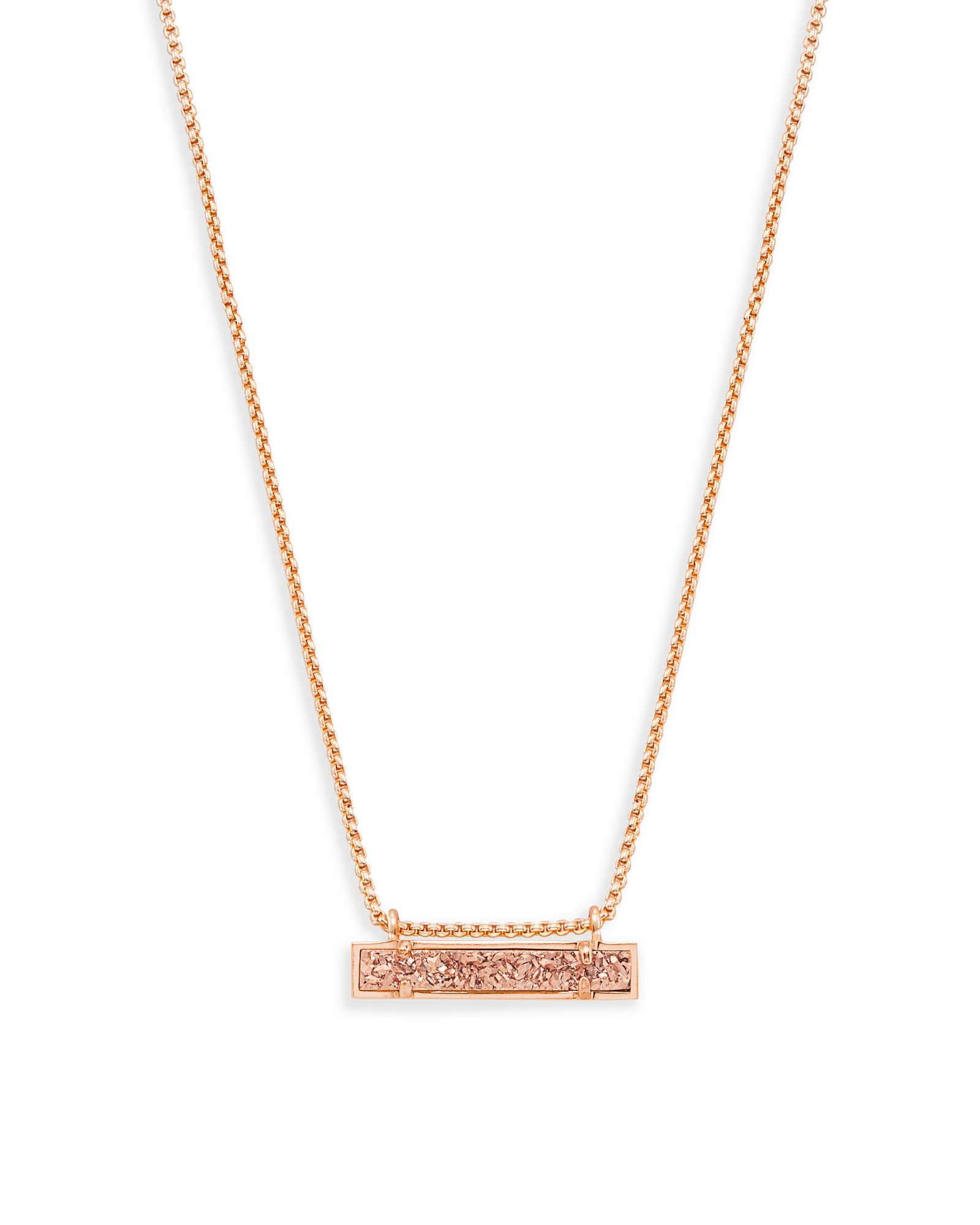 Leanor rose gold pendant necklace in rose gold drusy kendra scott leanor rose gold pendant necklace in rose gold drusy aloadofball Image collections