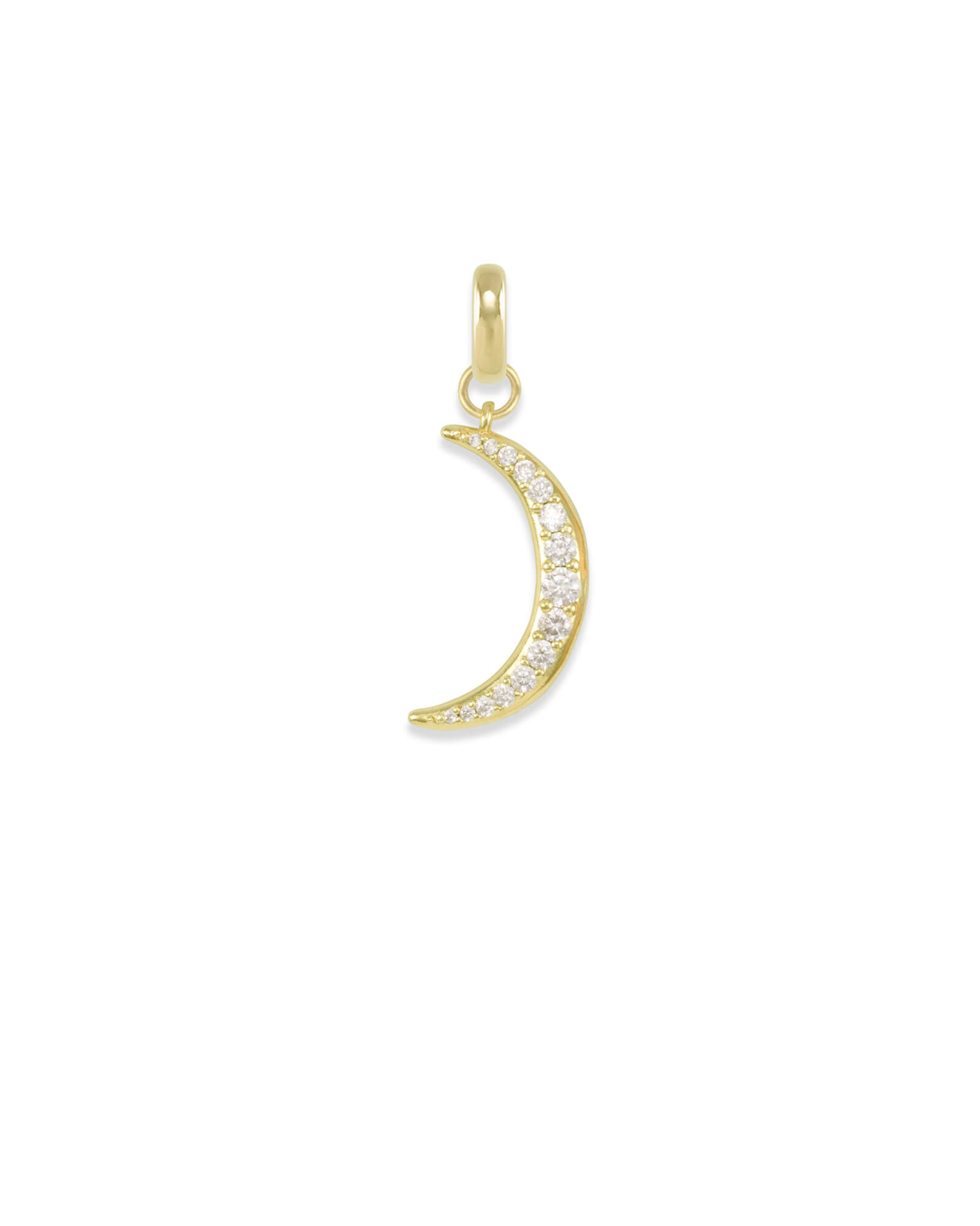 Small Crescent Moon Charm in Gold
