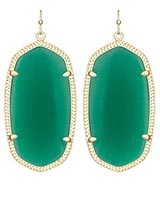 Danielle Earrings in Green