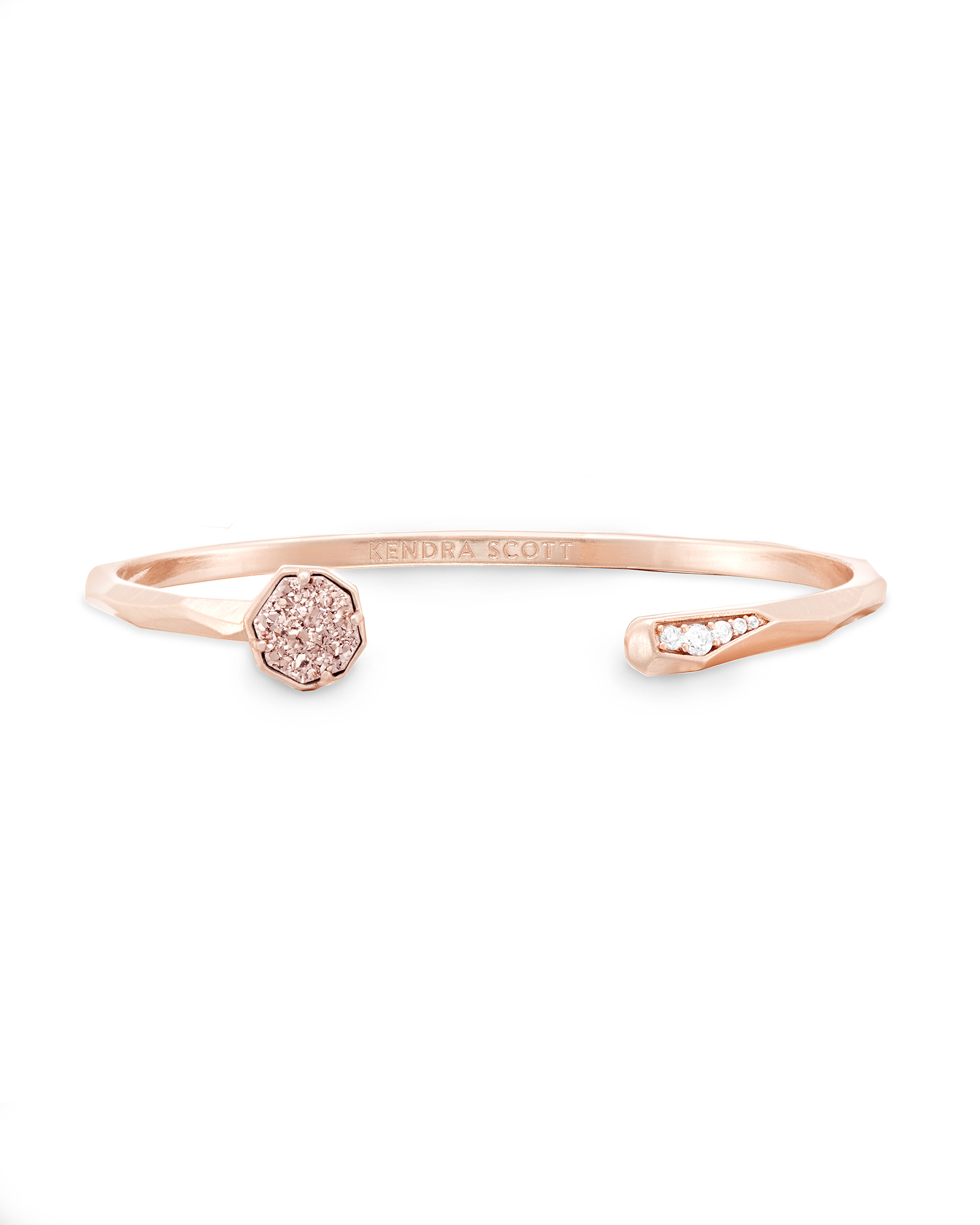 Ashlee Pinch Bracelet in Rose Gold Drusy