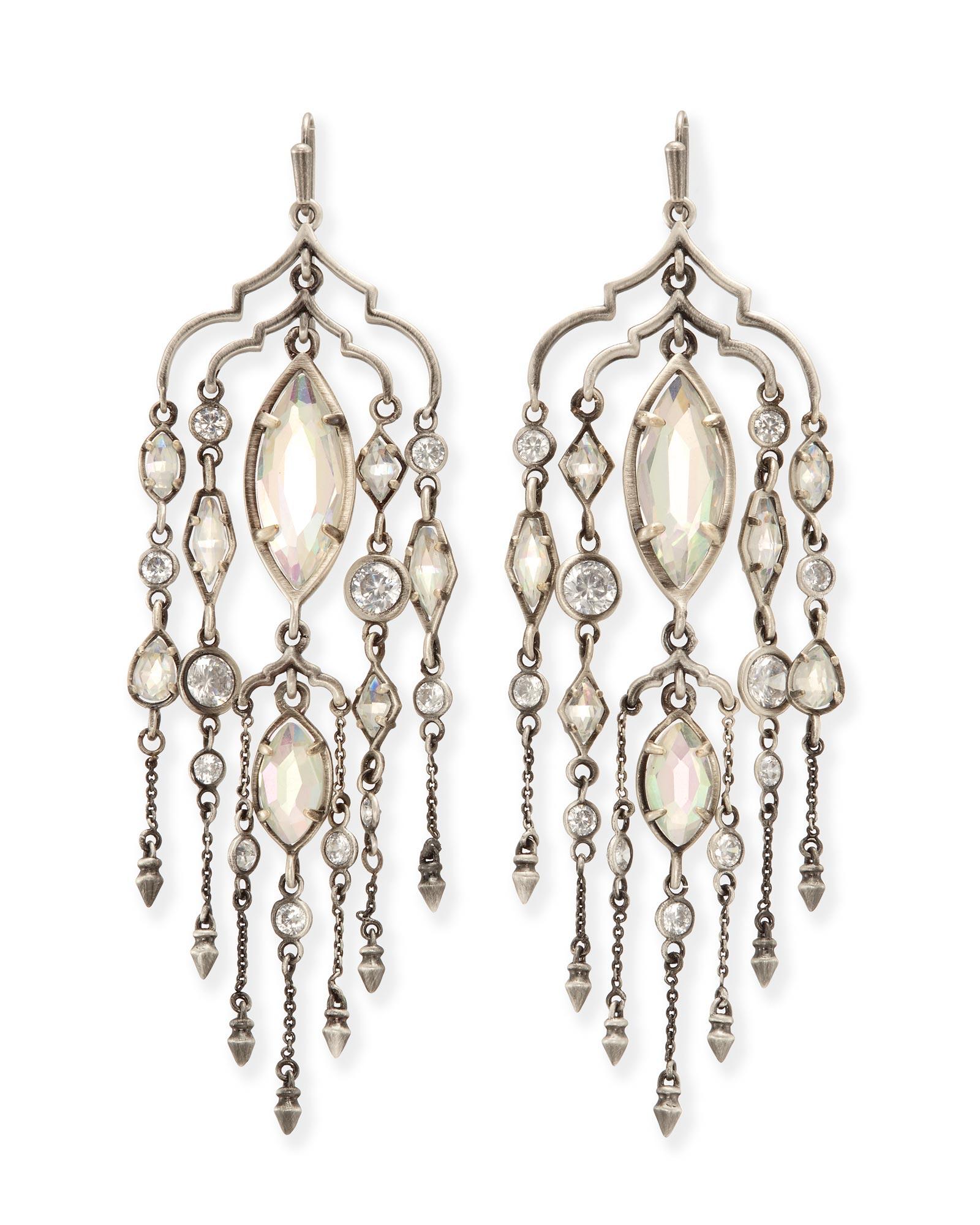 Emma Silver Chandelier Duster Earrings