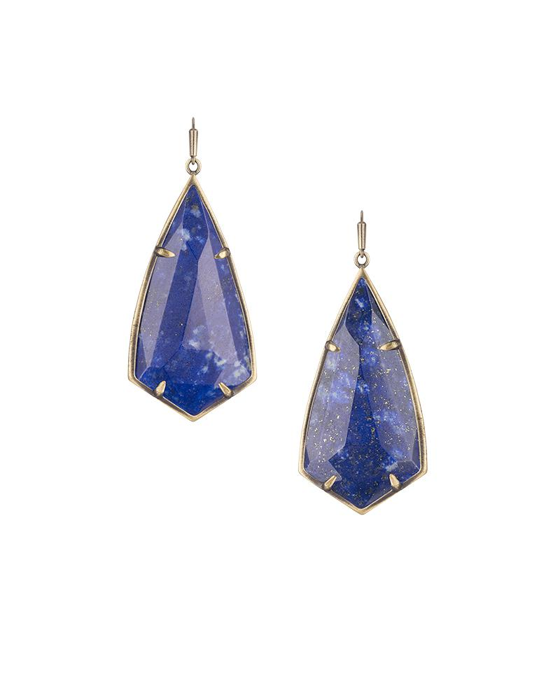 uq incredible sterling lapis medium silver lazuli earrings