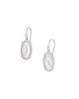 Lee Sterling Silver Drop Earrings in Ivory Mother-of-Pearl