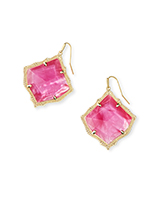 Kirsten Gold Drop Earrings in Azalea Illusion