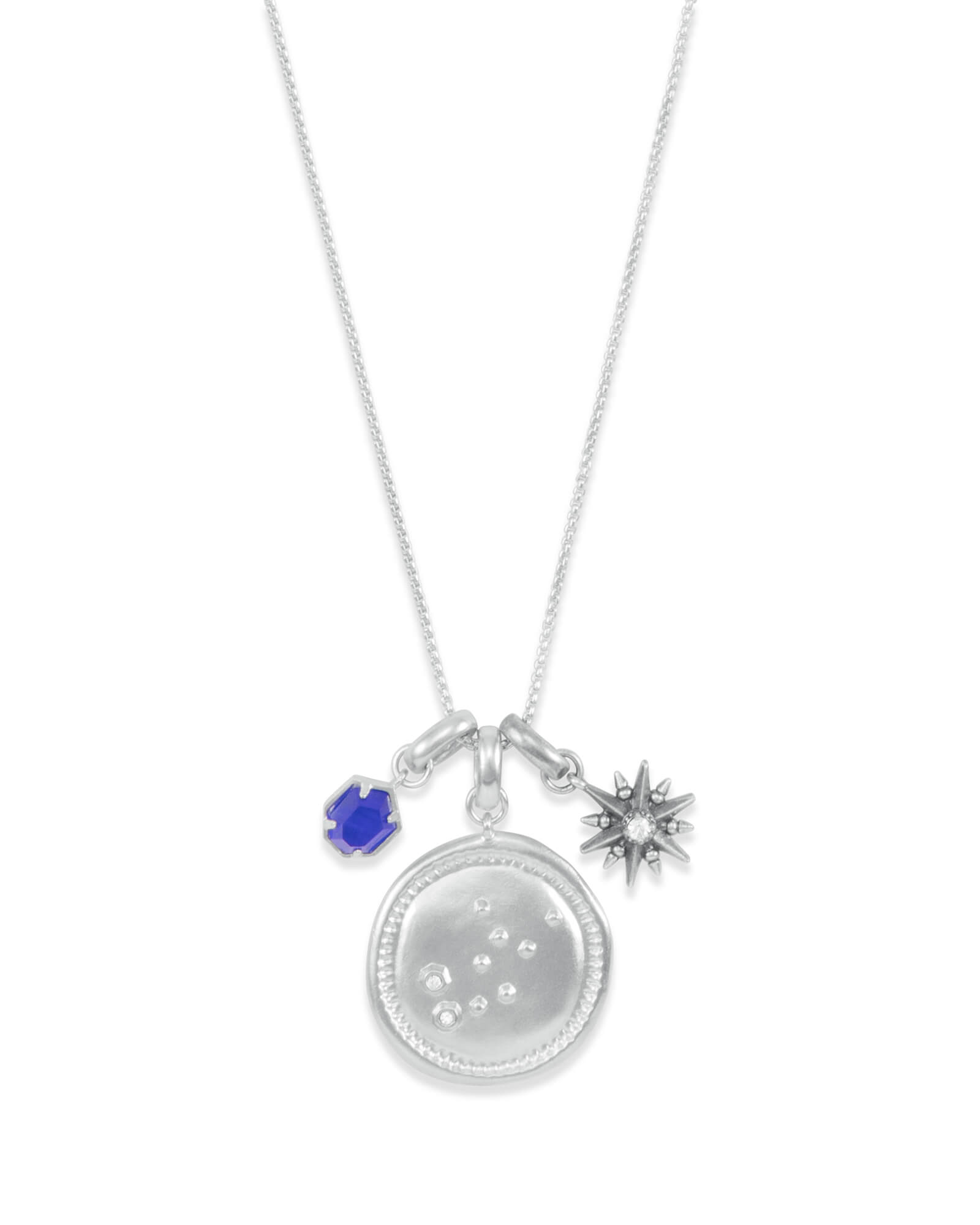 September Virgo Charm Necklace Set in Silver