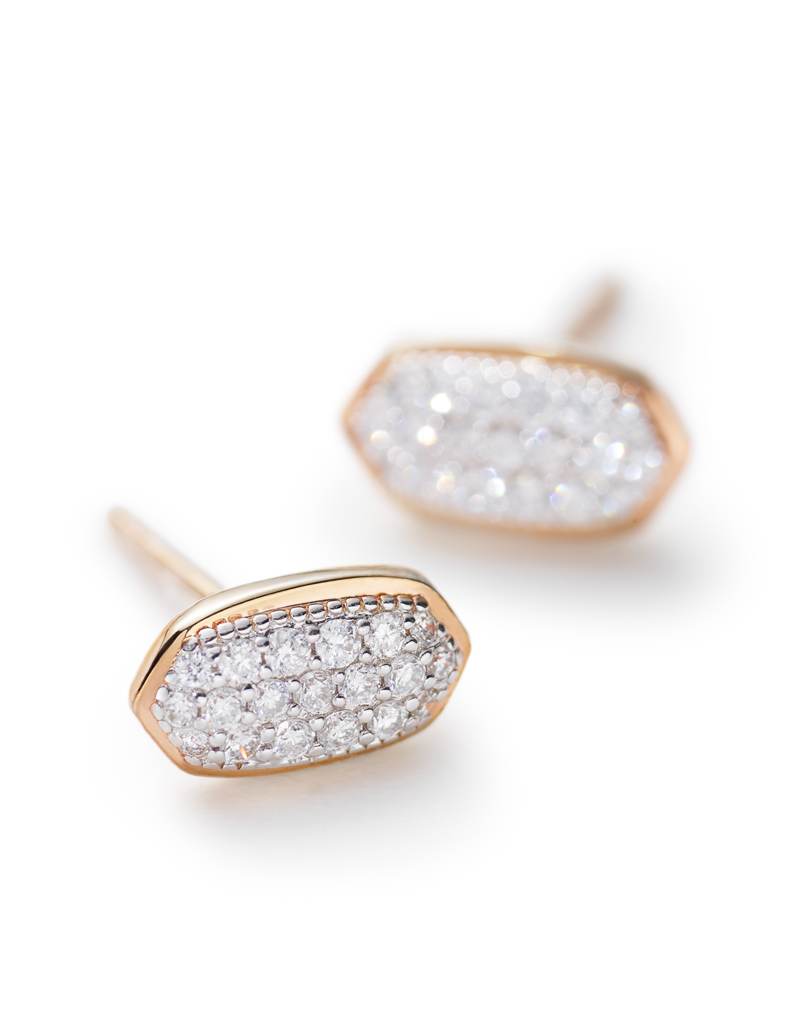 Amelee Earrings in Pave Diamond and 14k Rose Gold