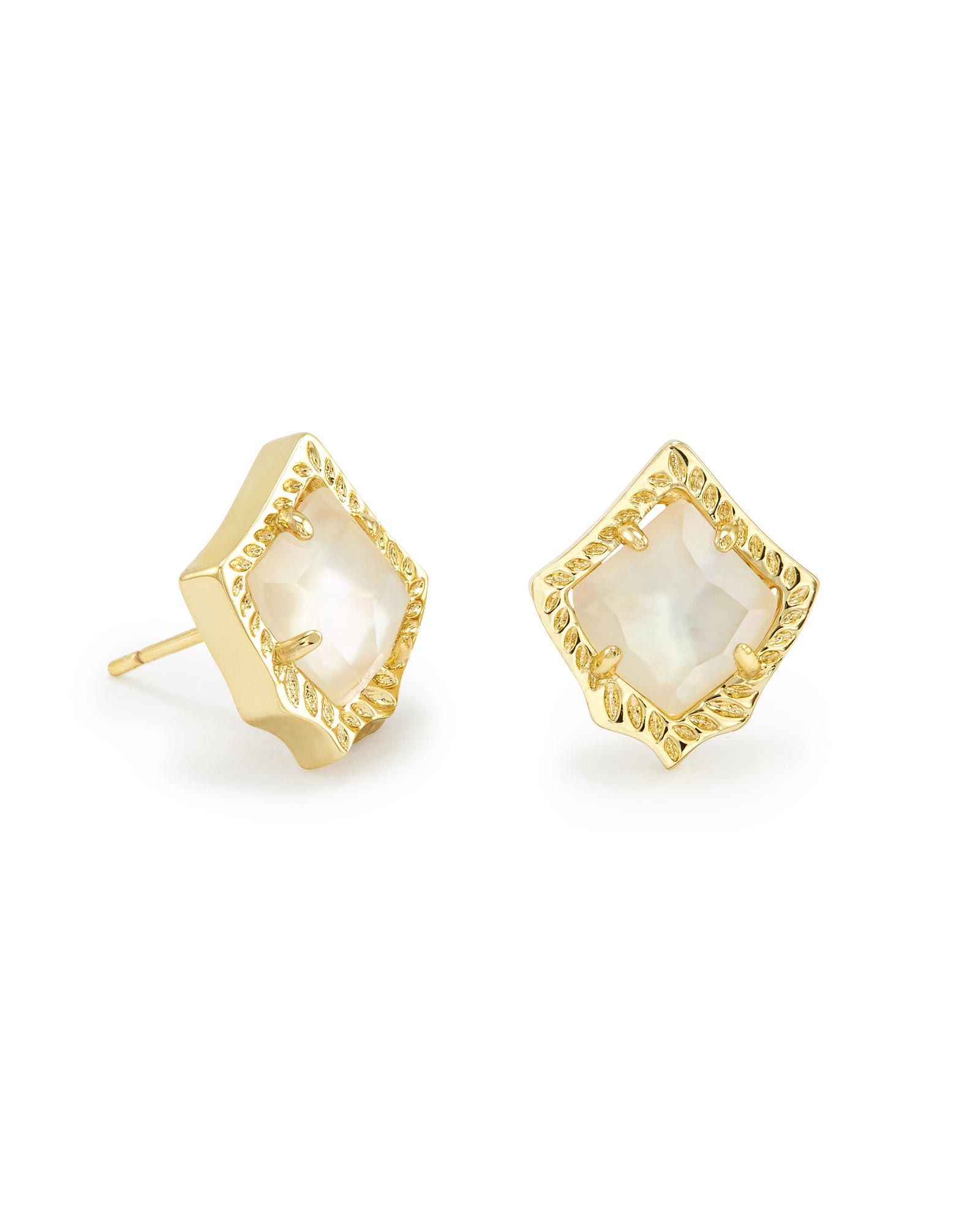 Kirstie Stud Earrings in Ivory Pearl
