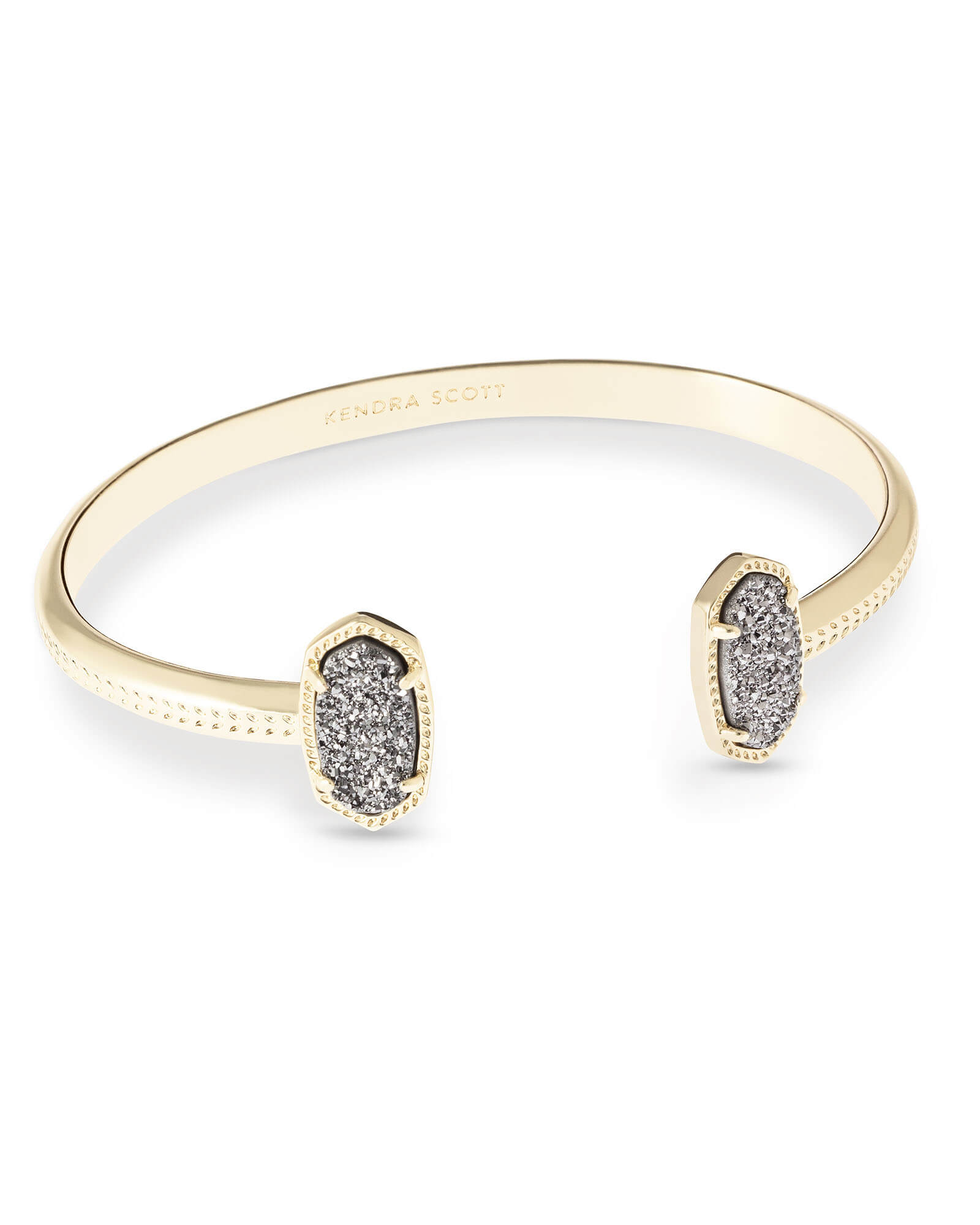 Elton Gold Bracelet In Platinum Drusy