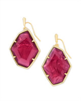 Dunn Gold Drop Earrings in Berry Illusion