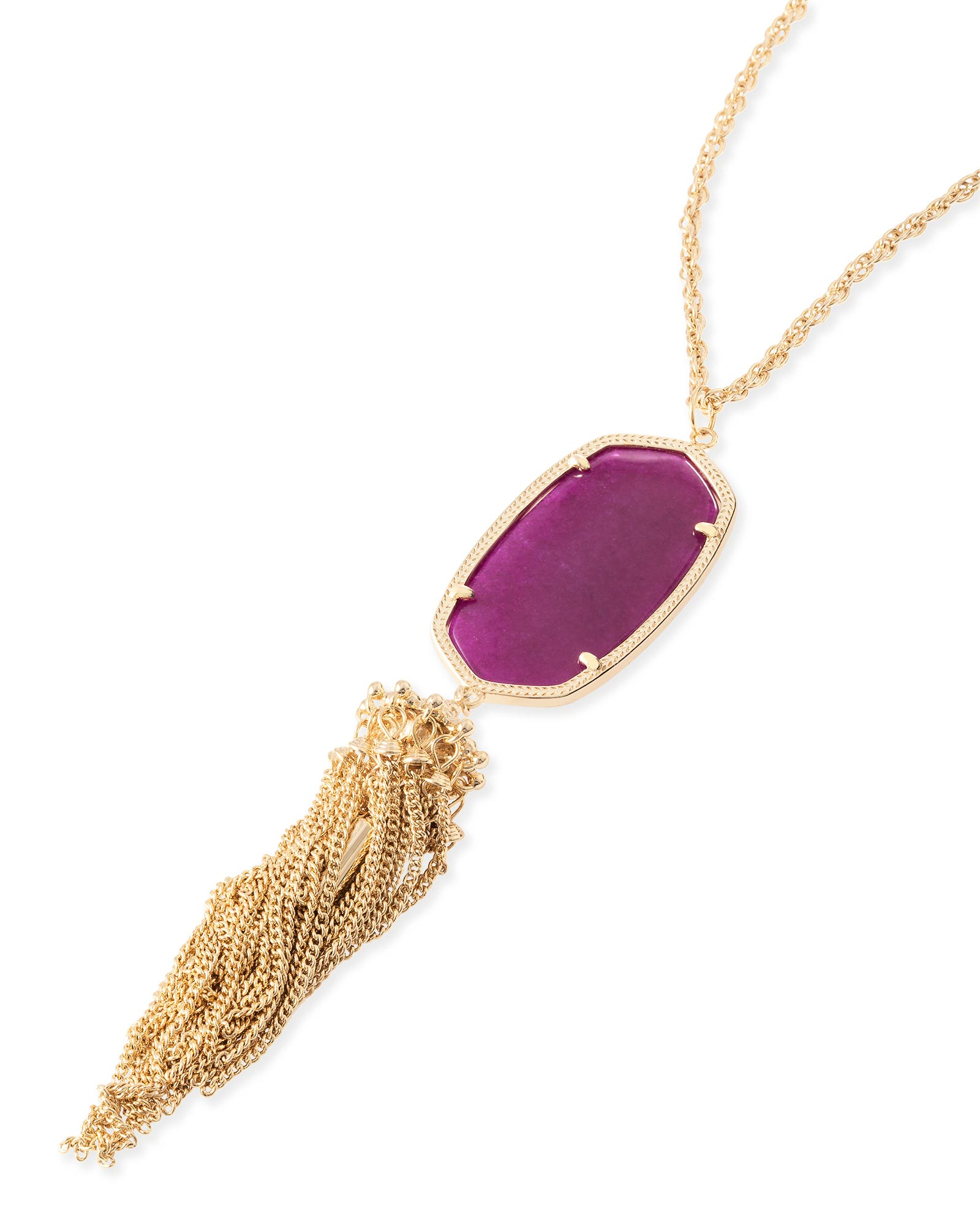 Rayne Necklace in Purple Jade