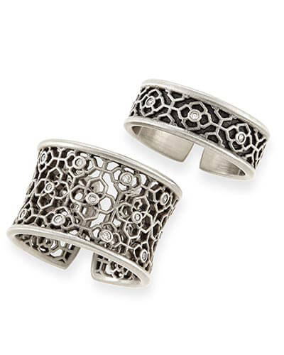 Kensey Ring Set in Antique Silver