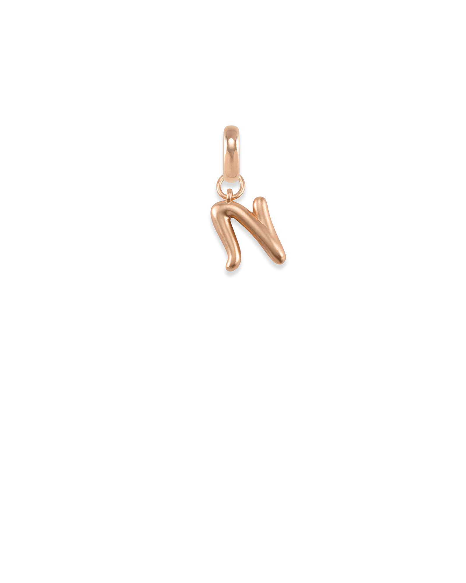 Letter N Charm in Rose Gold