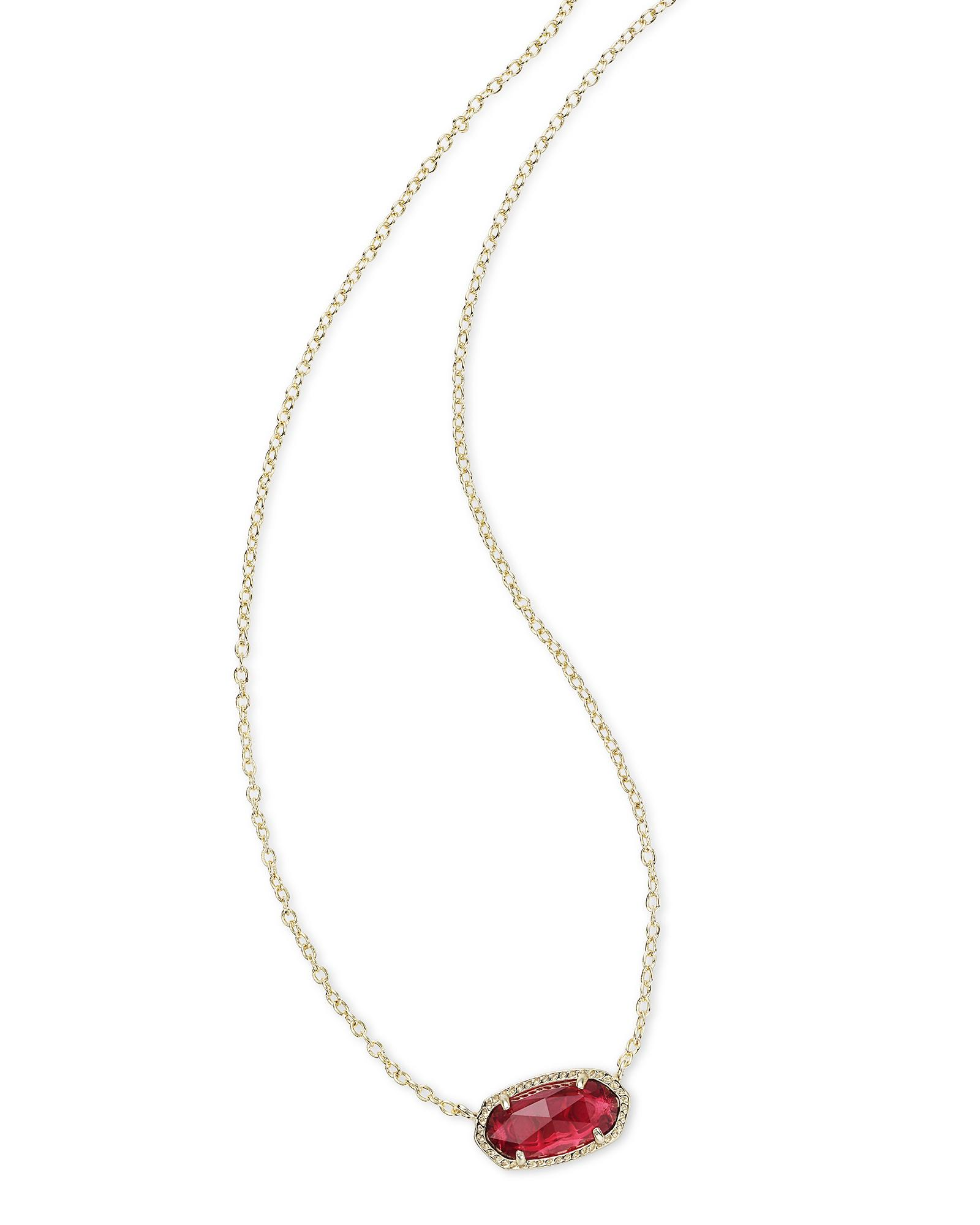 Elisa Pendant Necklace in Berry