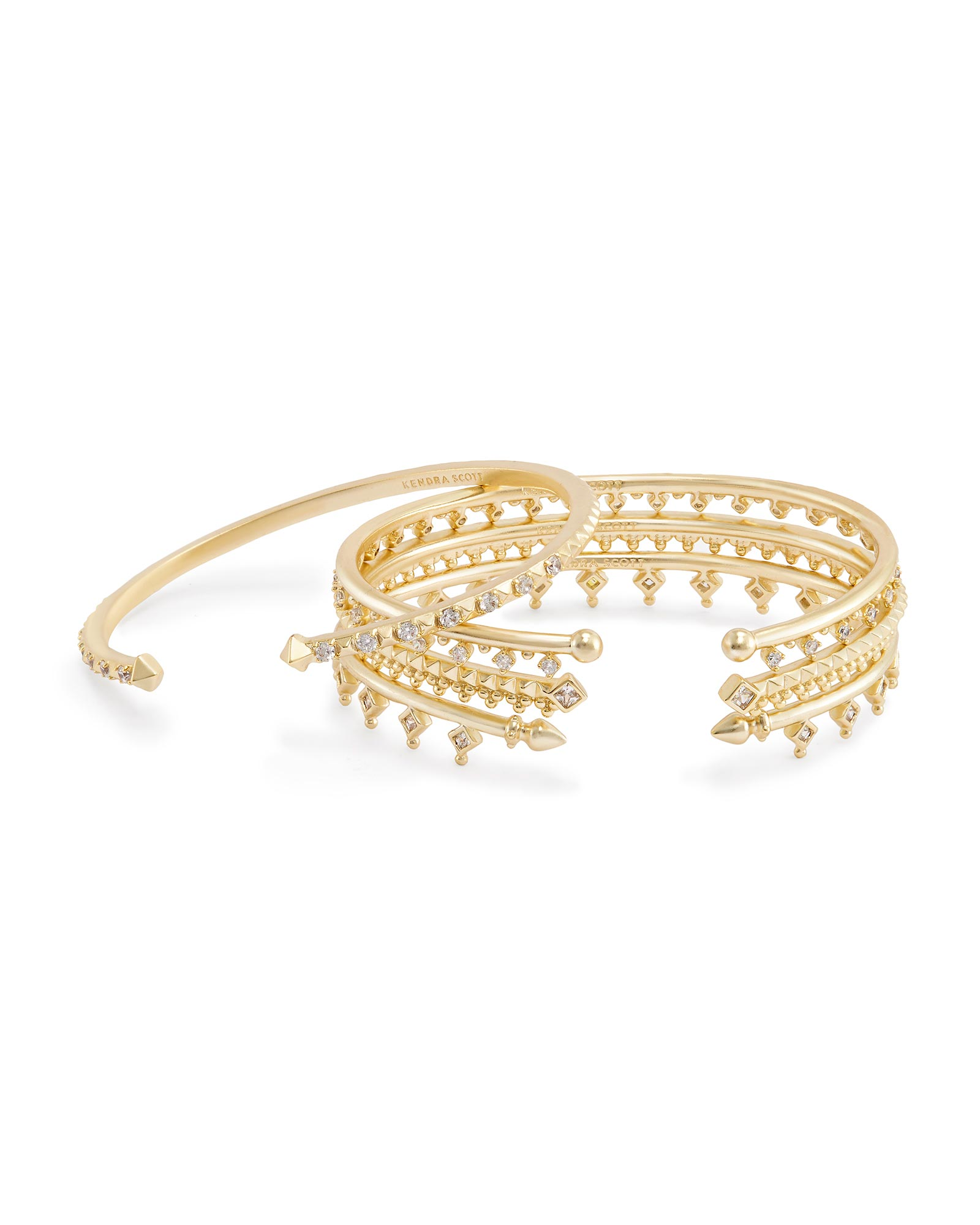Delphine Pinch Bracelet Set in Gold