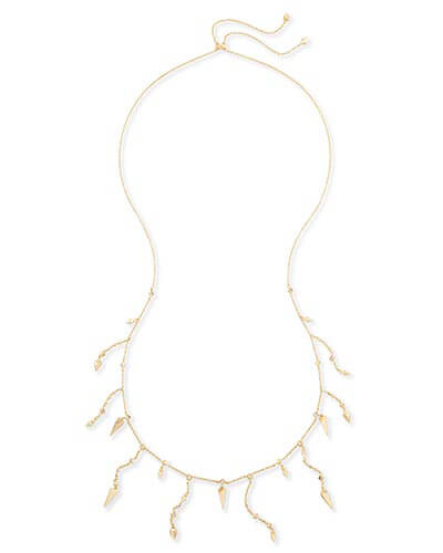 Loralei Long Necklace in Gold