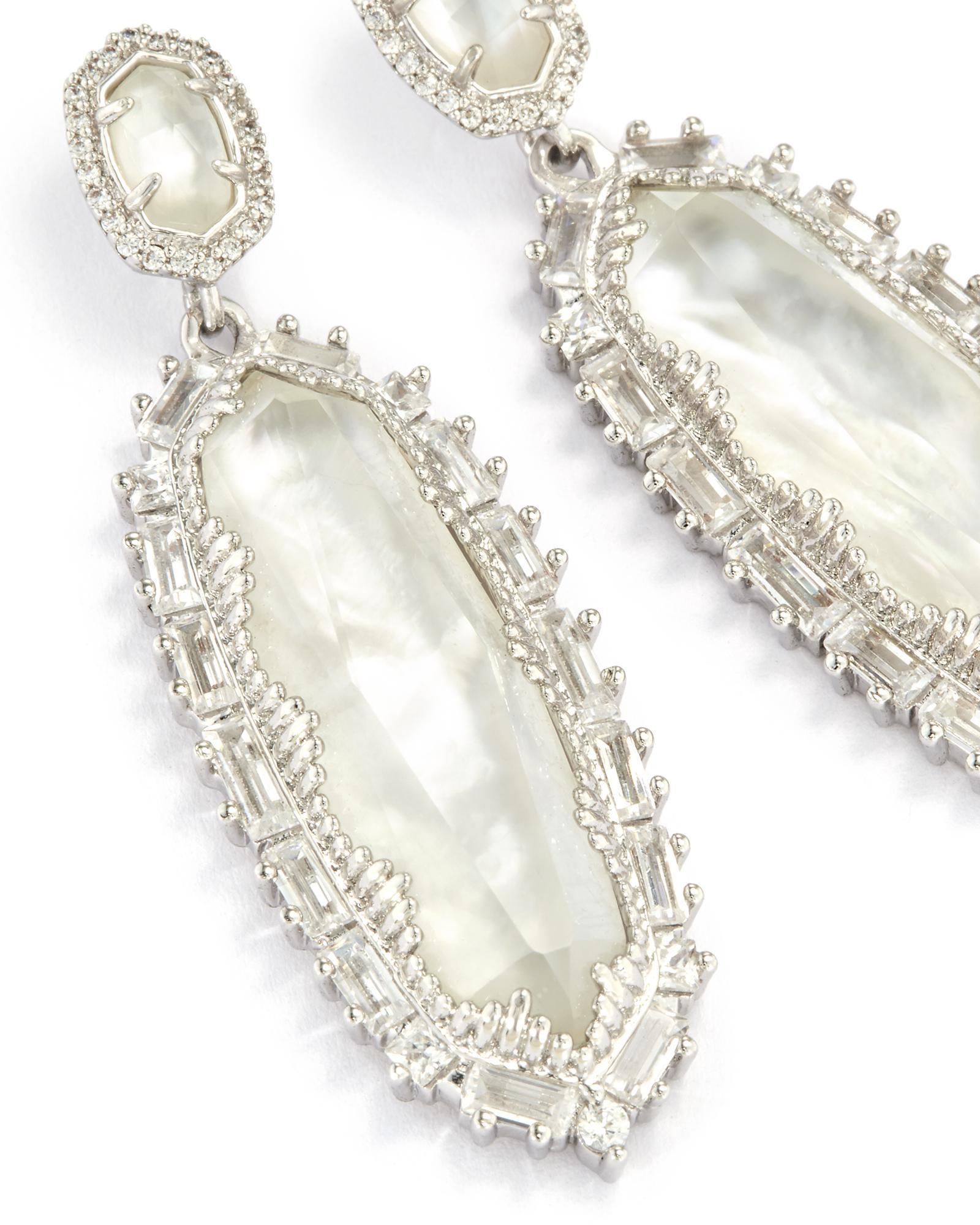 Kalina Statement Earrings In Silver