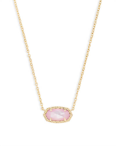 Elisa Pendant Necklace in Blush Pearl